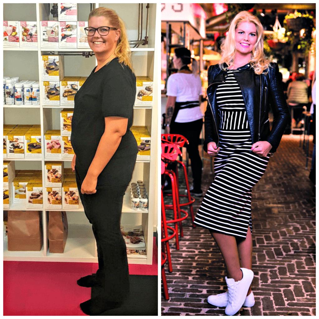 Voor en na foto ervaring Annemieke Rissewijk